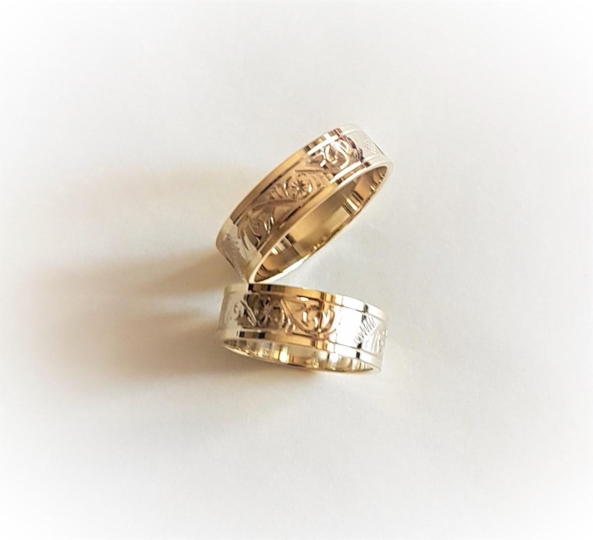 ....výroba snubních prstenů pro Vás nás baví :-) - Model 552 v širším provedení na přání snoubenců :-)