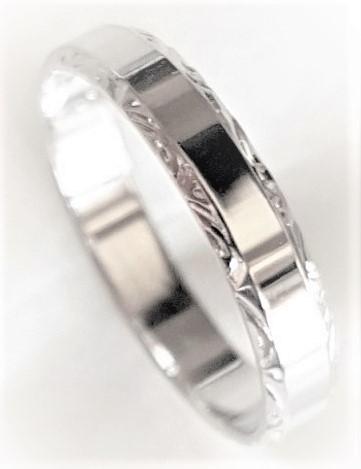 ....výroba snubních prstenů pro Vás nás baví :-) - Model 623 v bílém provedení - kraje ruční rytina