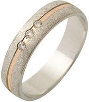 Snubní prsteny s brilianty - model 851 - Obrázek č. 1