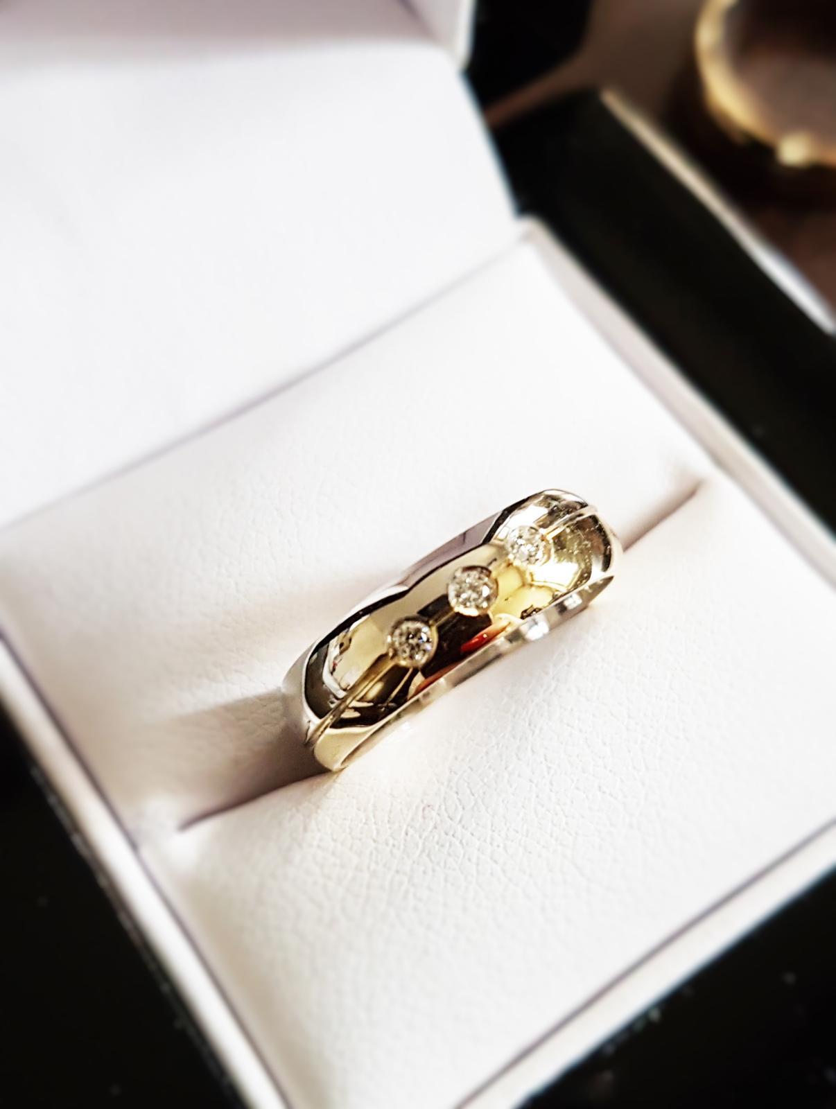 Masivní snubní prsteny Benet 830 s brilianty - Obrázek č. 1