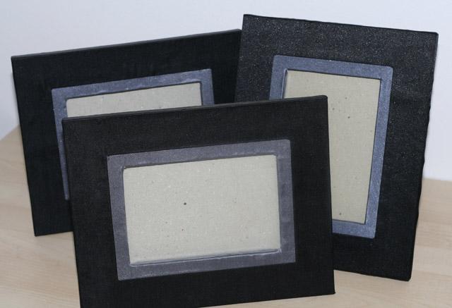 Čierno-šedý rámik vintage  25cm x 20cm -  1ks - Obrázok č. 1