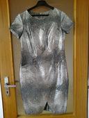 Sivo-čierno-strieborné šaty veľ.40-42, 42