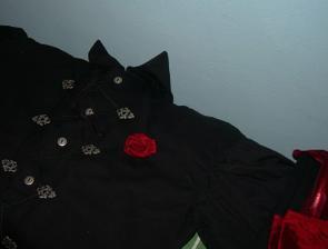 Růžička, která nakonec na košili nebyla:-(