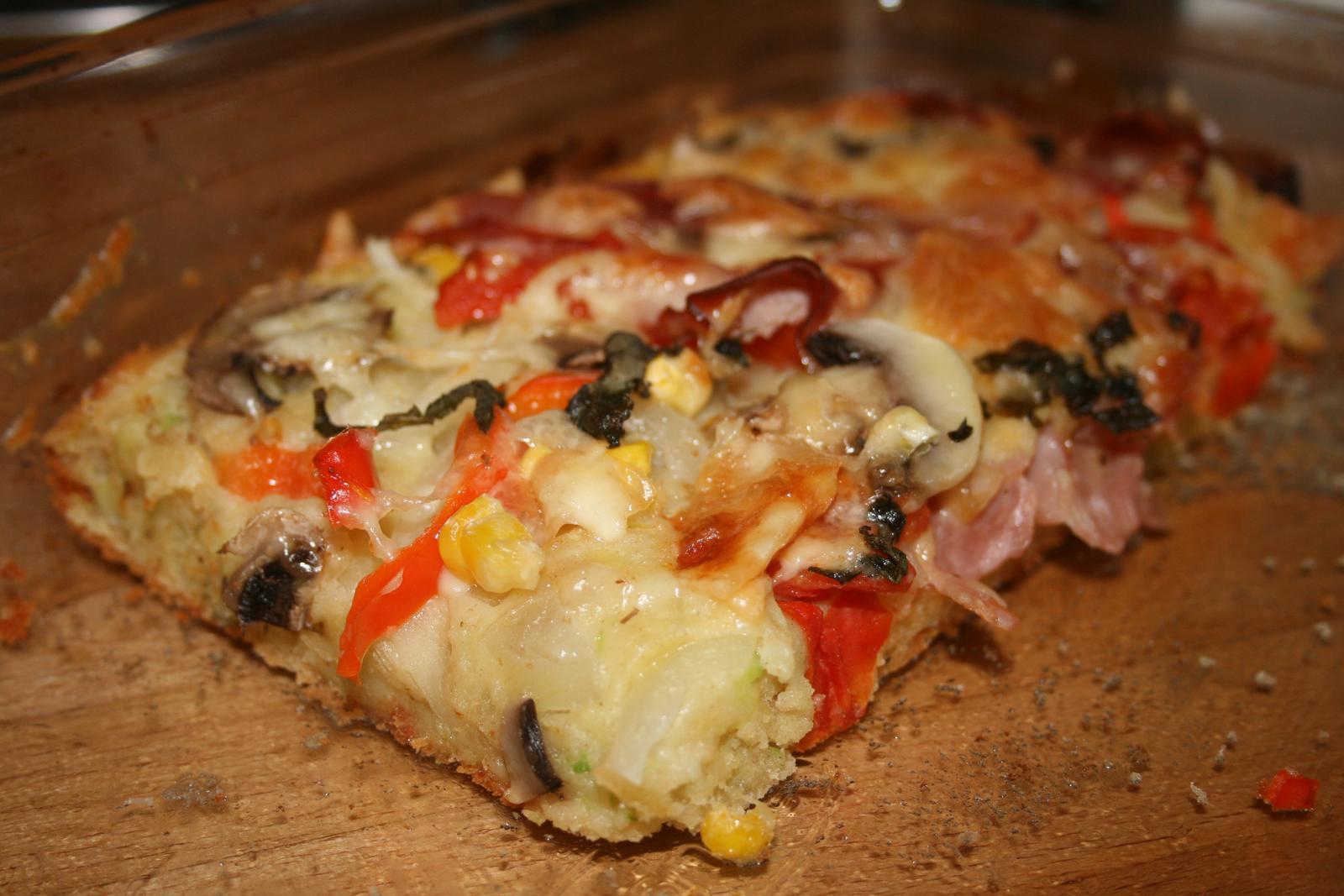 Naš pokus o zdravší život - cuketova pizza