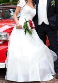 Svatební korzetové šaty, vel. 36-42, barva ivory, 38