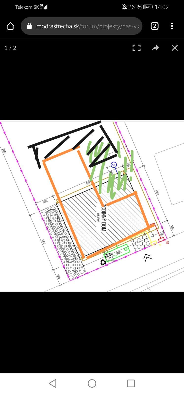 Cierne terasa, oranzovy podorys,... - Obrázok č. 1
