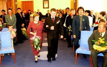 příchod ženicha na obřad