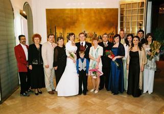 Najbližšia rodina a svedkovia