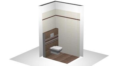 konecna verzia obkladu v malom wc