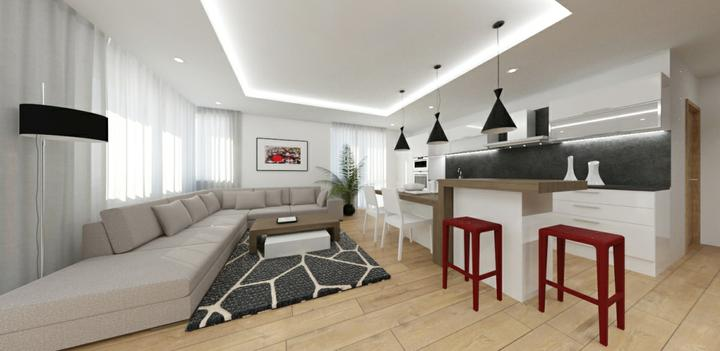 cubica - návrh interiéru bytu v Košiciach