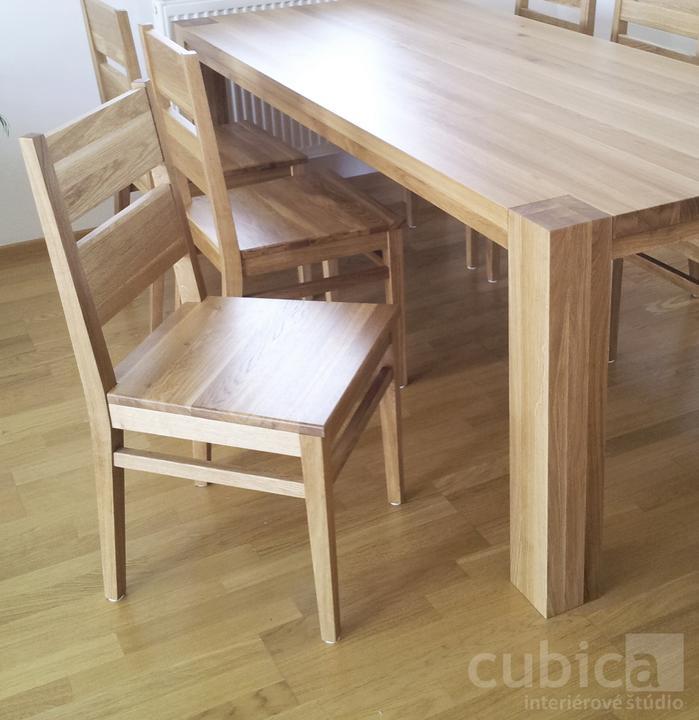 Dizajn a výroba nábytku na mieru Cubica - Jedálenská stolička z masívneho dubového dreva/výroba Cubica