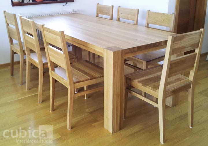 Dizajn a výroba nábytku na mieru Cubica - Jedálenský set z masívneho dubového dreva/výroba Cubica