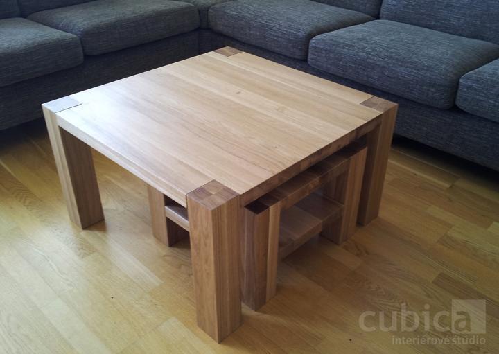 Dizajn a výroba nábytku na mieru Cubica - Konferenčné stolíky z masívneho dubového dreva/výroba Cubica