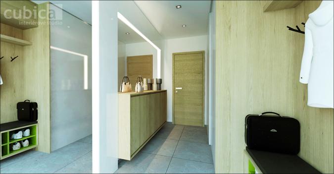 Návrh interiéru rodinného domu - Interiér rodinného domu - predsieň