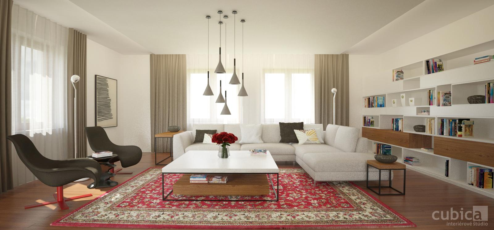 Návrh interiéru rodinného domu - Návrh interiéru rodinného domu #interier #obyvacka #rekonstrukcia
