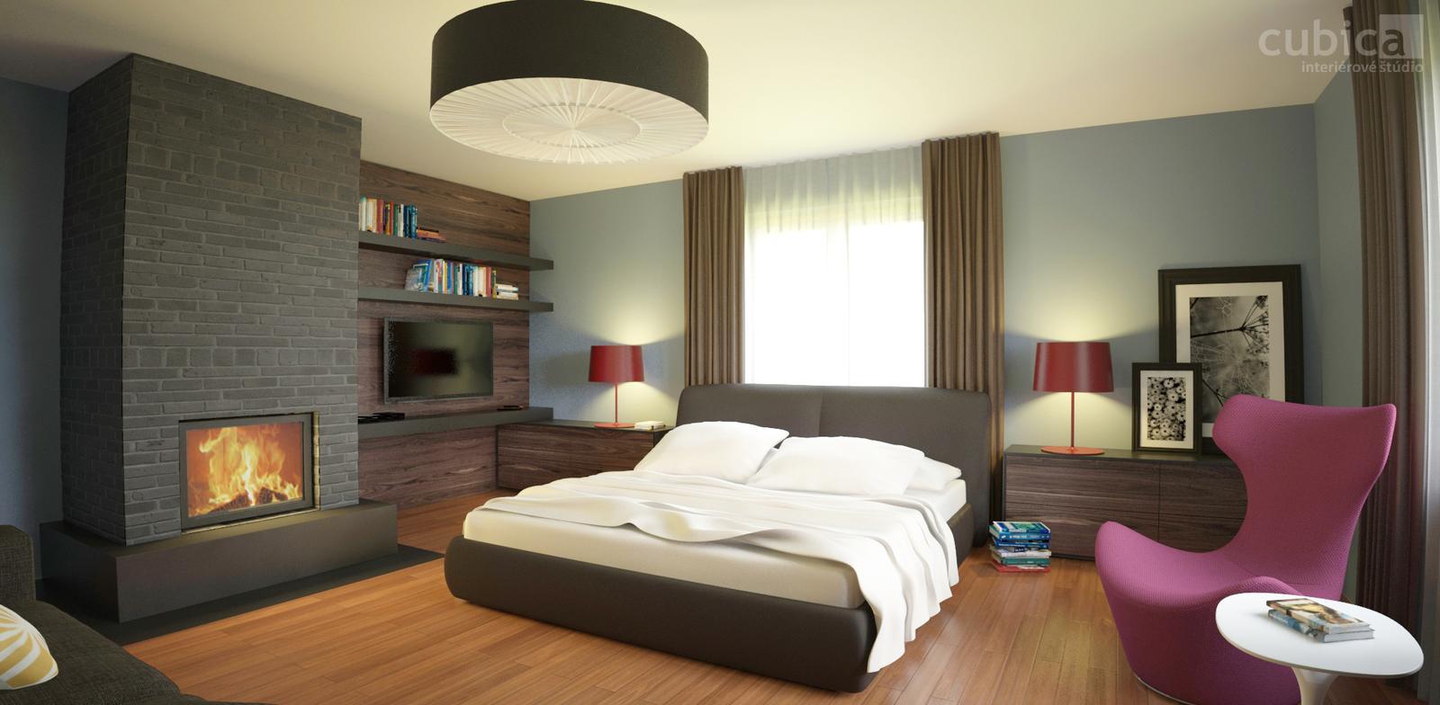 Návrh interiéru rodinného domu - Návrh interiéru rodinného domu - spálňa