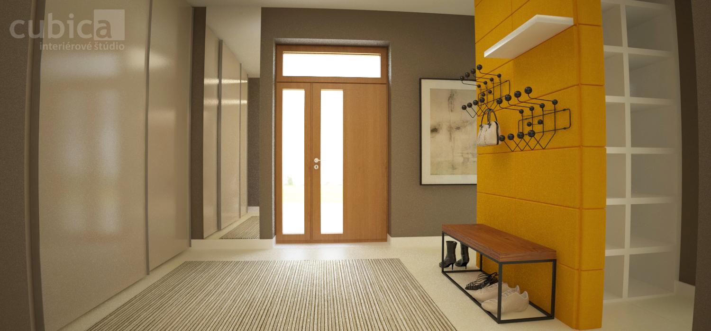 Návrh interiéru rodinného domu - Návrh interiéru rodinného domu - vstupná hala #interier #rekonstrukcia