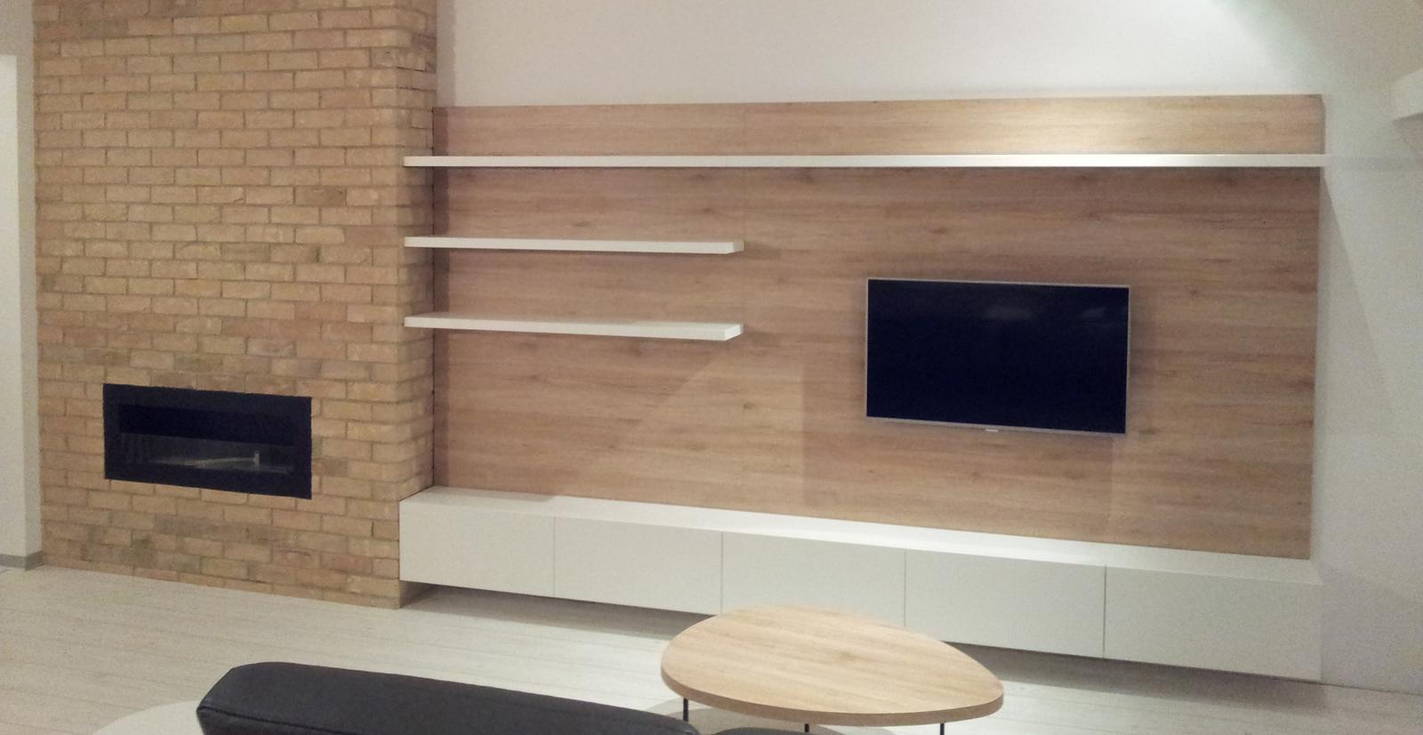 Dizajn a výroba nábytku na mieru Cubica - TV zostava - výroba cubica
