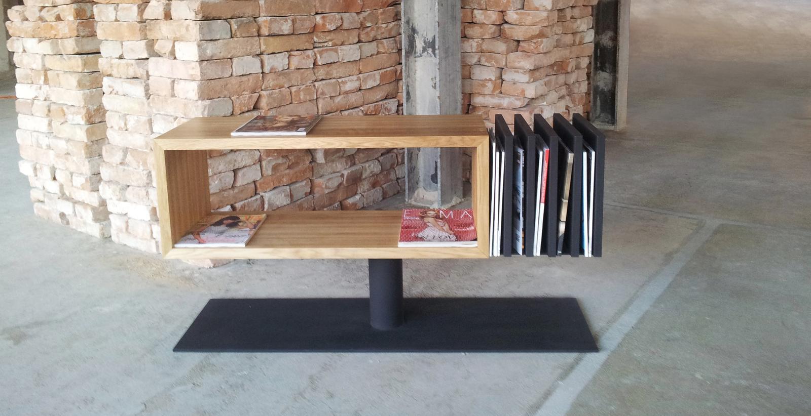 Dizajn a výroba nábytku na mieru Cubica - Skrinka book box - masívny prírodný dub - dizajn a výroba cubica