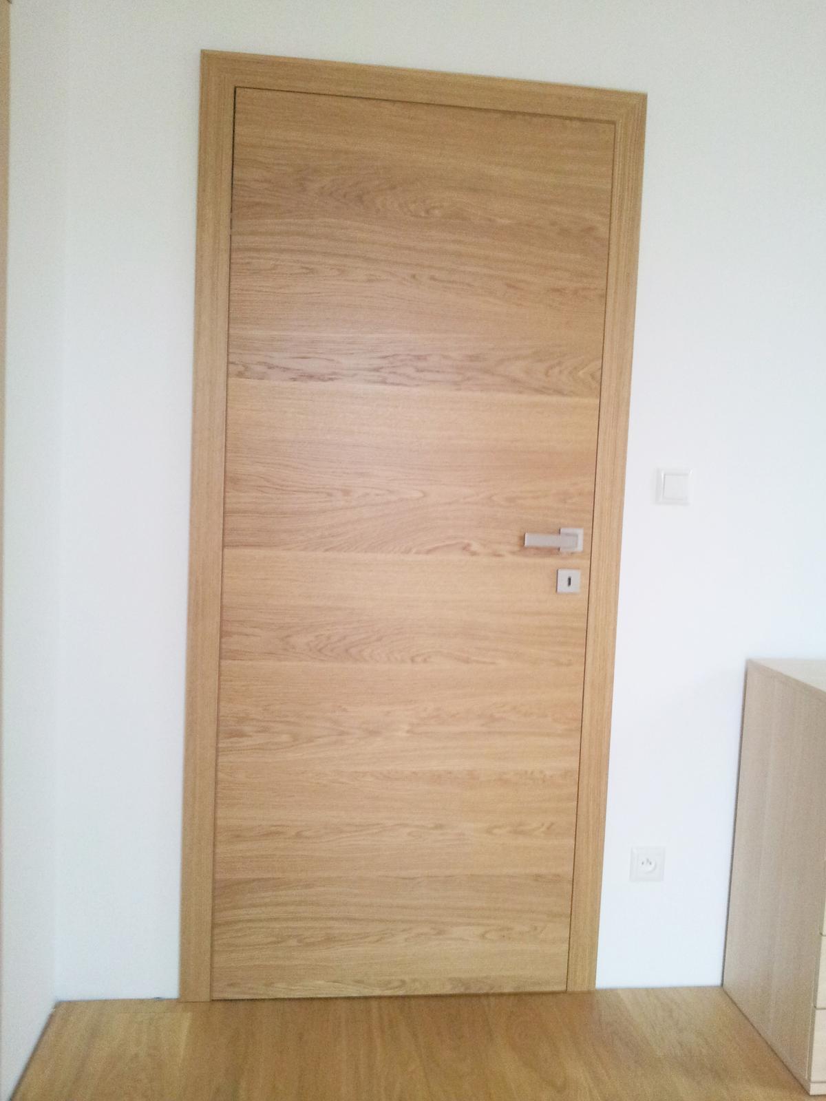 Dizajn a výroba nábytku na mieru Cubica - Bezfalcové interiérové dvere - dub prírodný - dizajn a výroba cubica