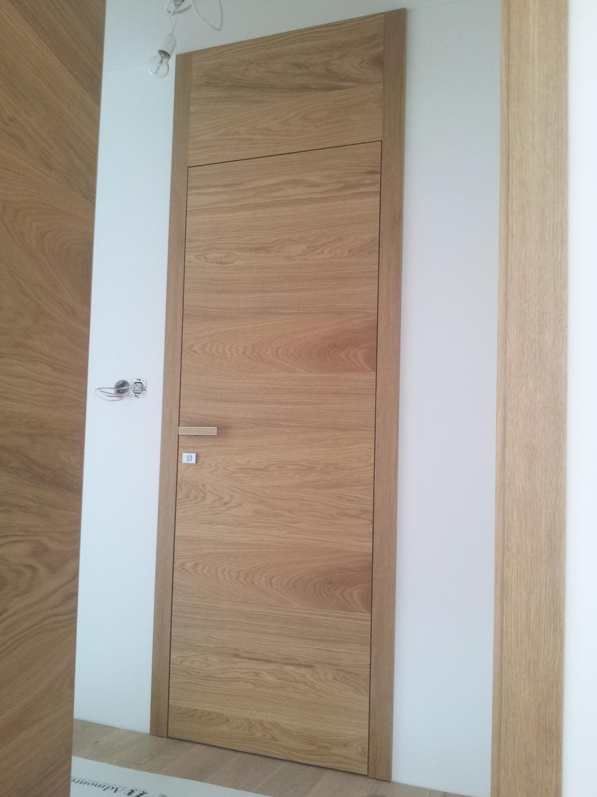 Interierové dvere na mieru - Bezfalcové interierové dvere v dubovom prevedení. Cubica