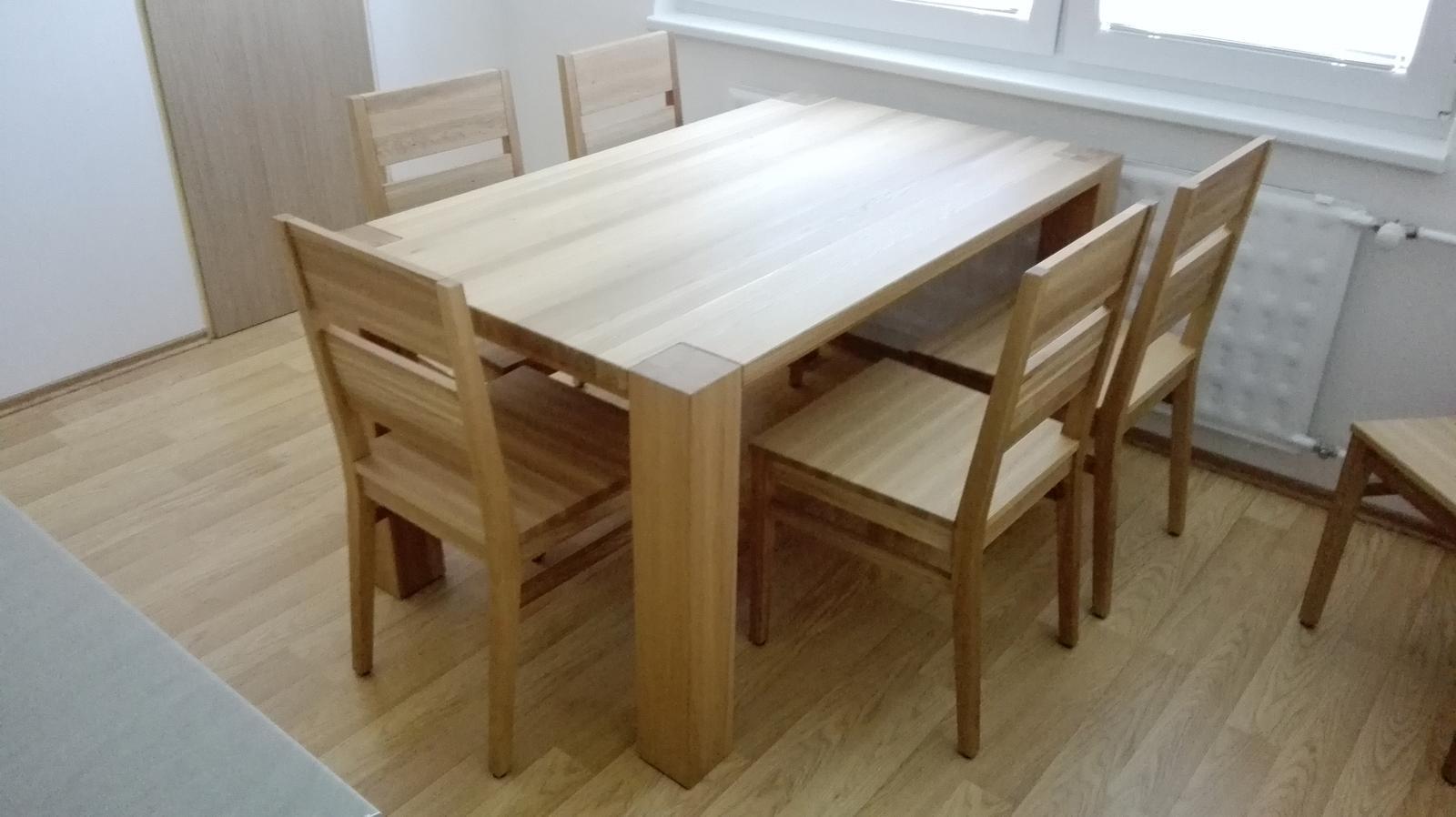 Dizajn a výroba nábytku na mieru Cubica - Jedalensky set - masivny dub, olejovany