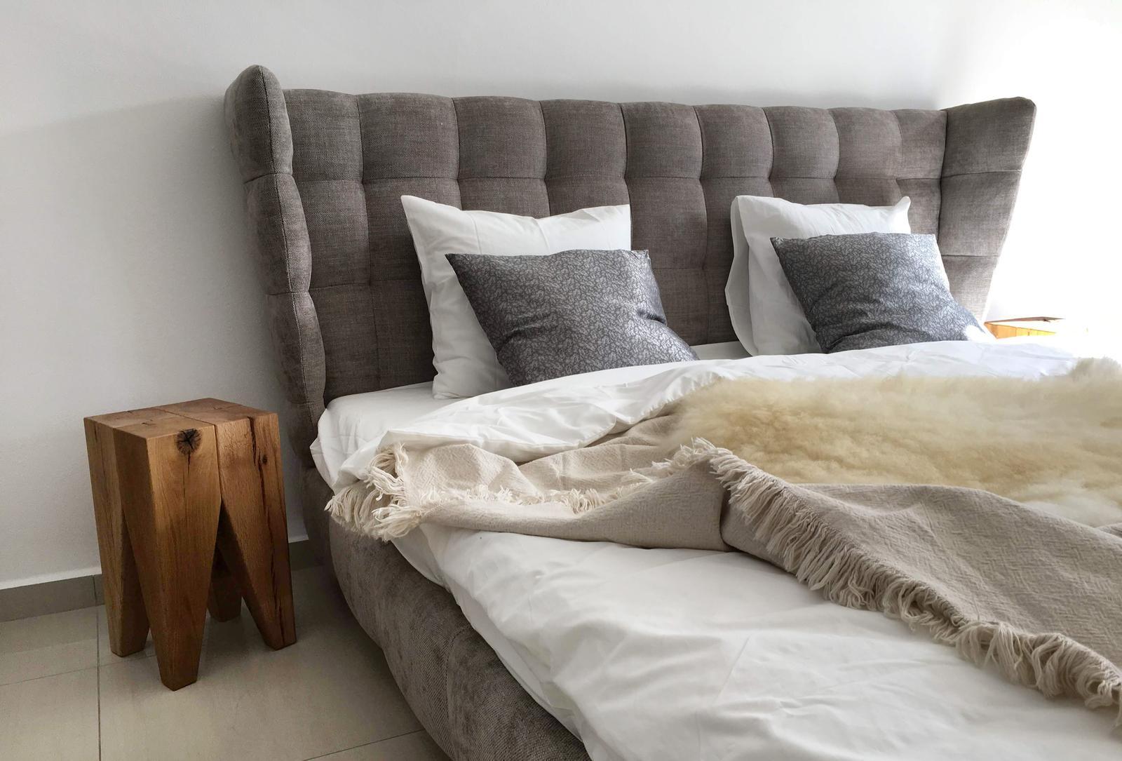 Cubica interiérové štúdio - showroom Zvolen - Celočalúnená posteľ v našej predajni vo Zvolene #postel #spalna #cubica