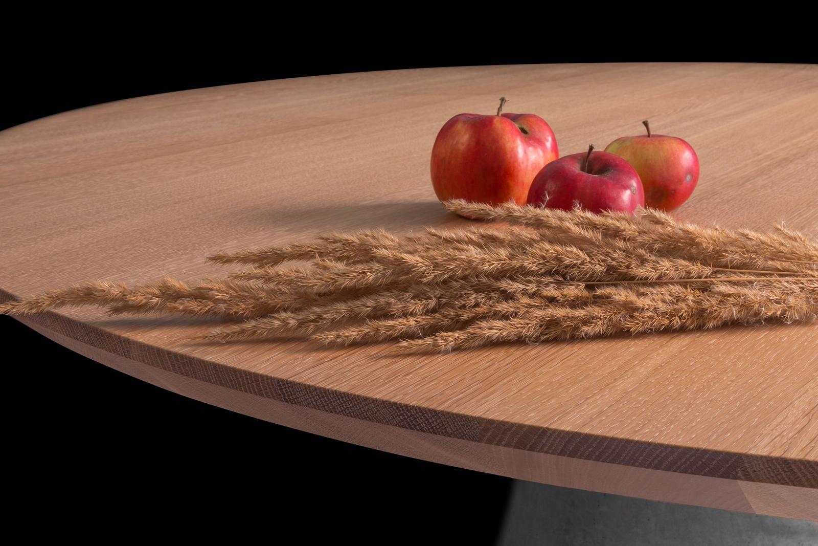 Jedálenský stôl TAP - masívny dub/beton - Obrázok č. 3