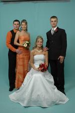 Ženích, nevesta, sestra a jej priateľ