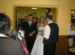 V Moteli nás pekne privítali a pohostili ako sa pre novomanželov patrí