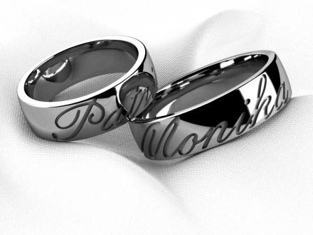 Snubni Prsteny S Rytim Z Vnejsi Strany Kde Sezenu