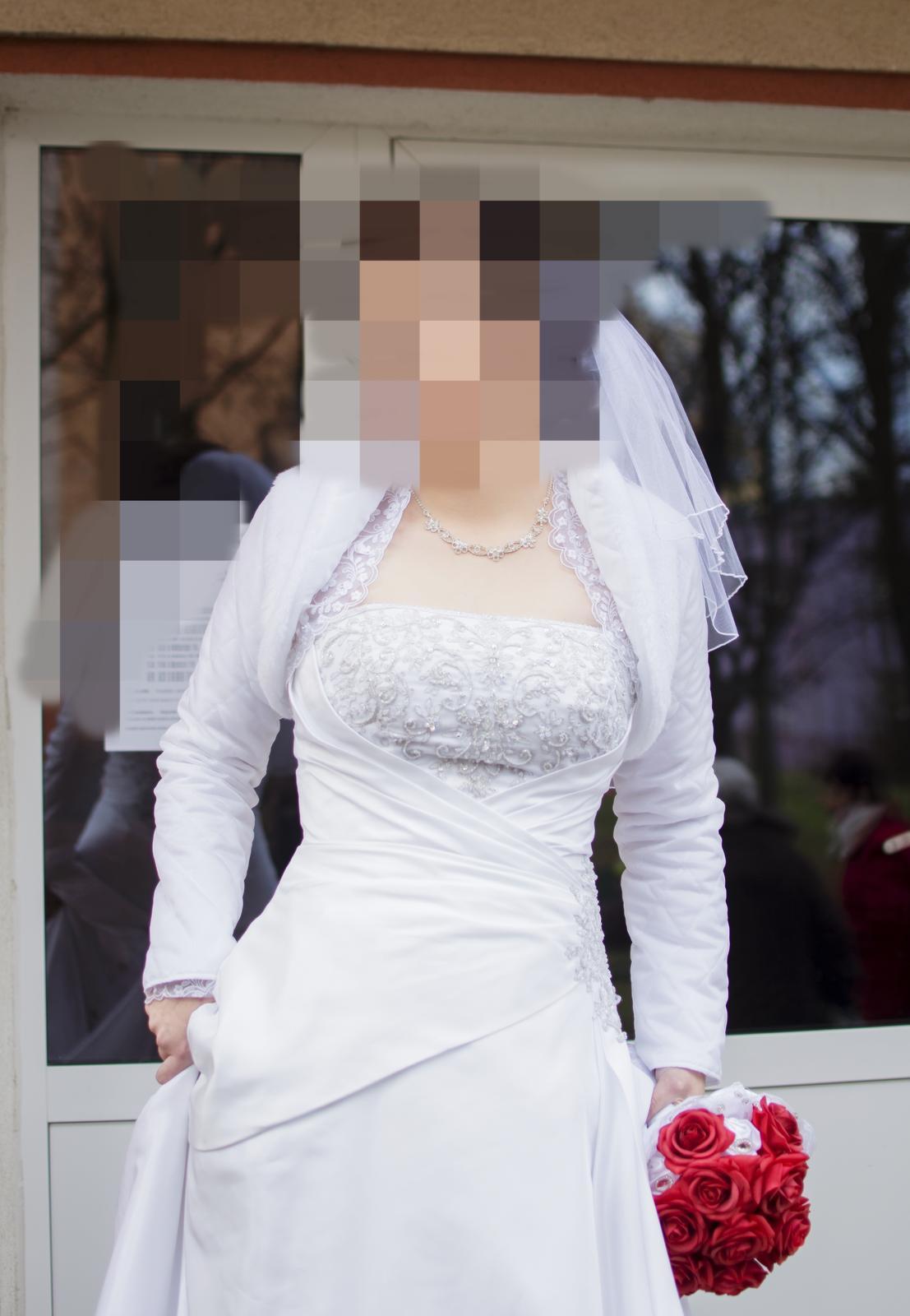 Svadobné šaty na viazanie 38-40 - Obrázok č. 1