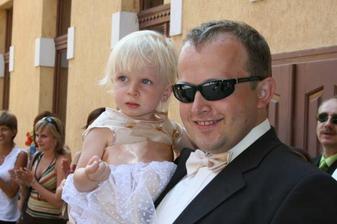 Nasa druha druzicka Laurika s tatinom