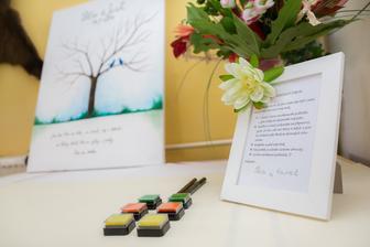 """úžasný ručně malovaný svatební dar od """"běžkyně"""" Janči :)"""