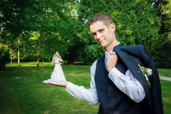 fotečky na přání ženicha...jednou je někde viděl a museli jsme je mít taky :)