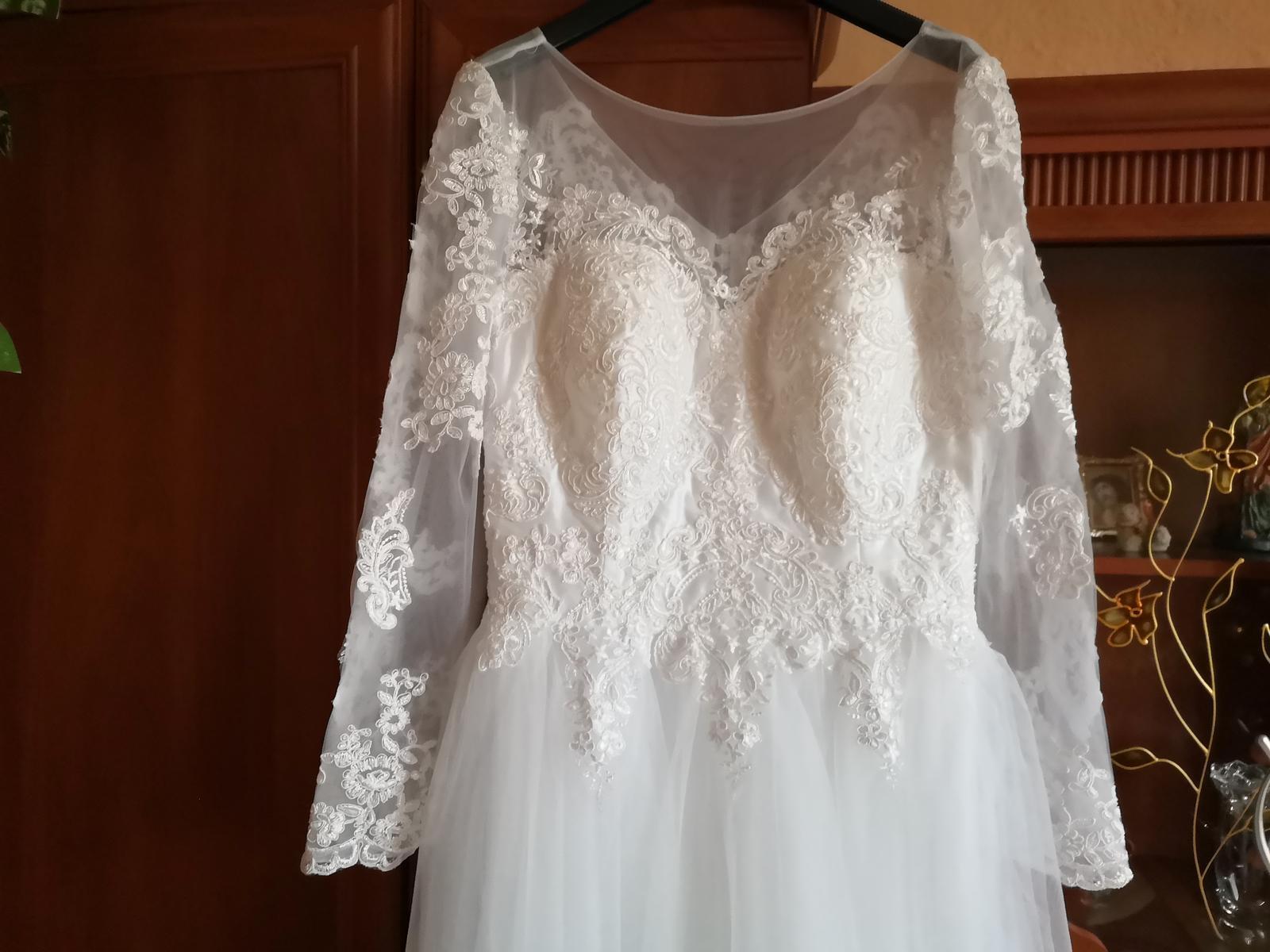 Svadobné šaty NOVÉ M - Obrázok č. 1