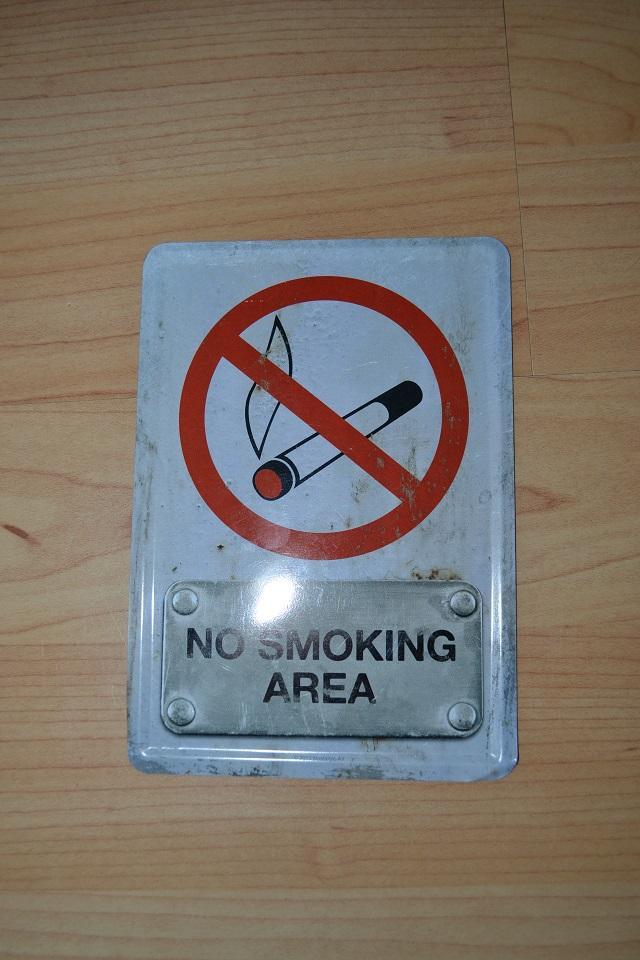 plechová tabulka NO SMOKING AREA - Obrázok č. 1
