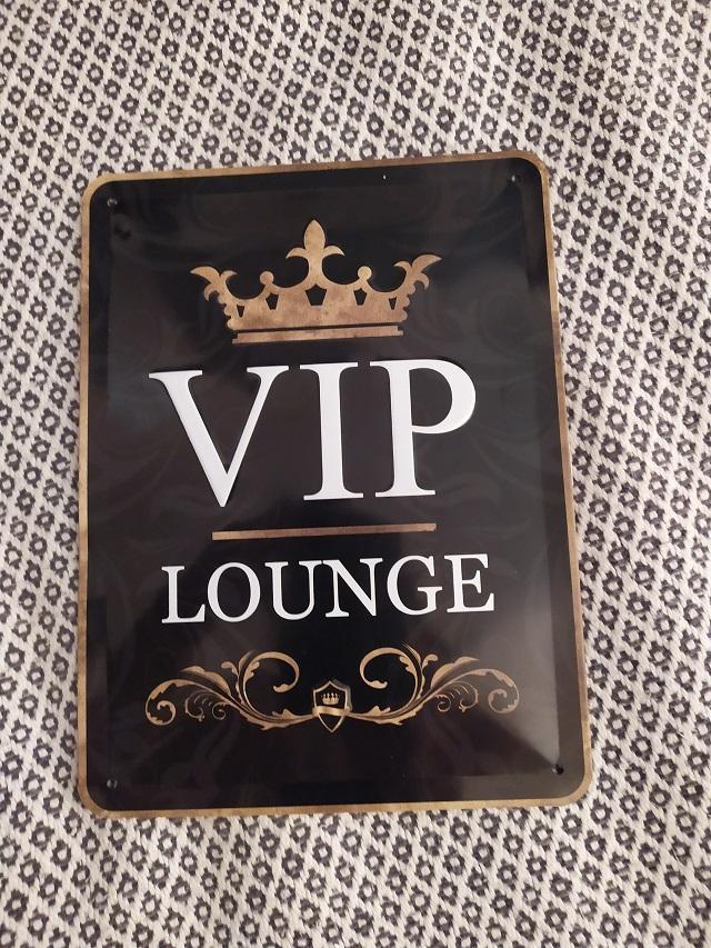 plechová tabulka VIP LOUGE, - Obrázok č. 1