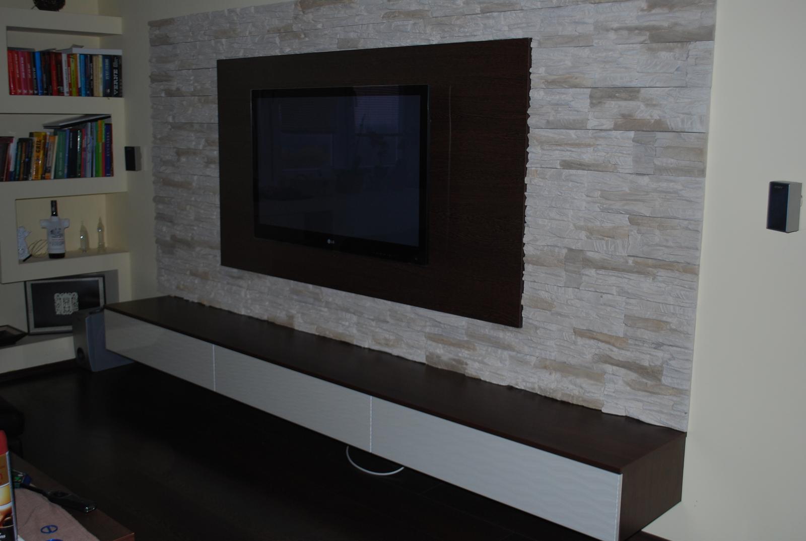 Nábytok - Obývacia súprava buk čoko / mirage biela lesklá