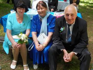 Babička, její sestra a děda
