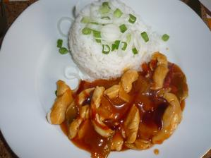 ostrá čína s rýží