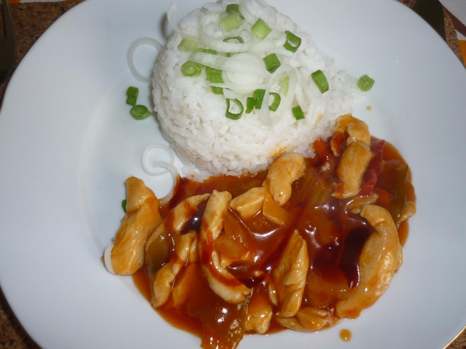 Což dát si něco k snědku - ostrá čína s rýží