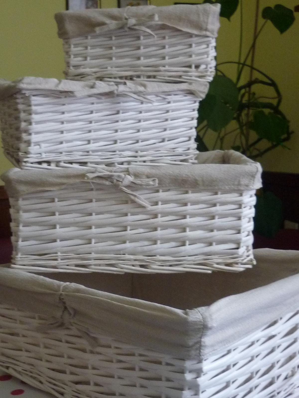 Co bych chtěla  podruhé a co už jsem si pořídila - Košíčky z Bonami  2 sady - 8 košíků- doma