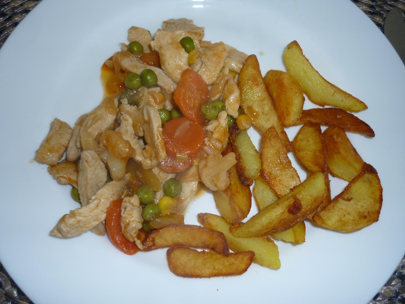 Což dát si něco k snědku - prsa na zelenině s opečeným bramborem