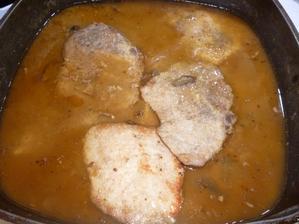 kotlety na houbách s rýží