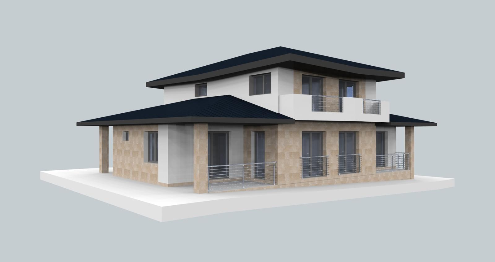 Prebiehajuce projekty - Jedna z možností návrhu fasády
