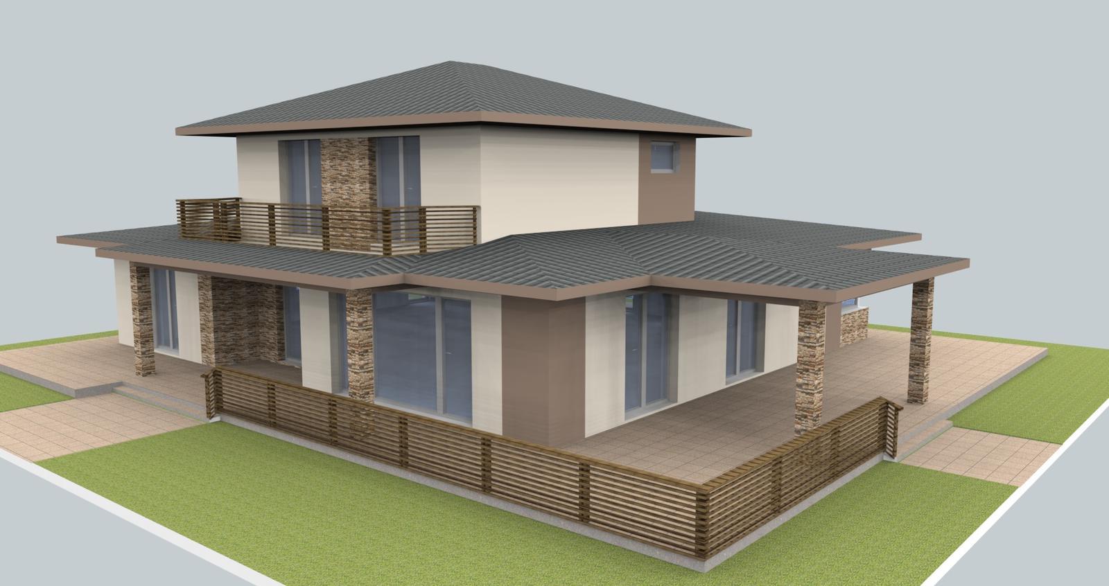 Prebiehajuce projekty - Prebehajú konzultácie ohľadom návrhu fasády, obkladu a zábradlia. Toto je jedna z možností.