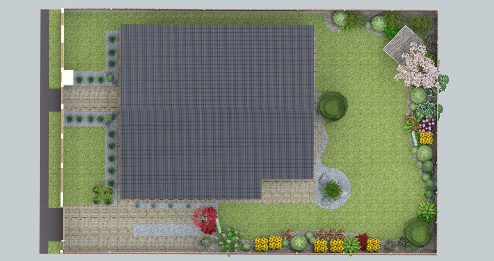 Prebiehajuce projekty - Návrh Záhrady a chodníkov