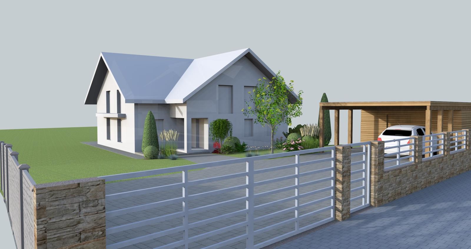 Prebiehajuce projekty - Návrh prístrešku a záhrady
