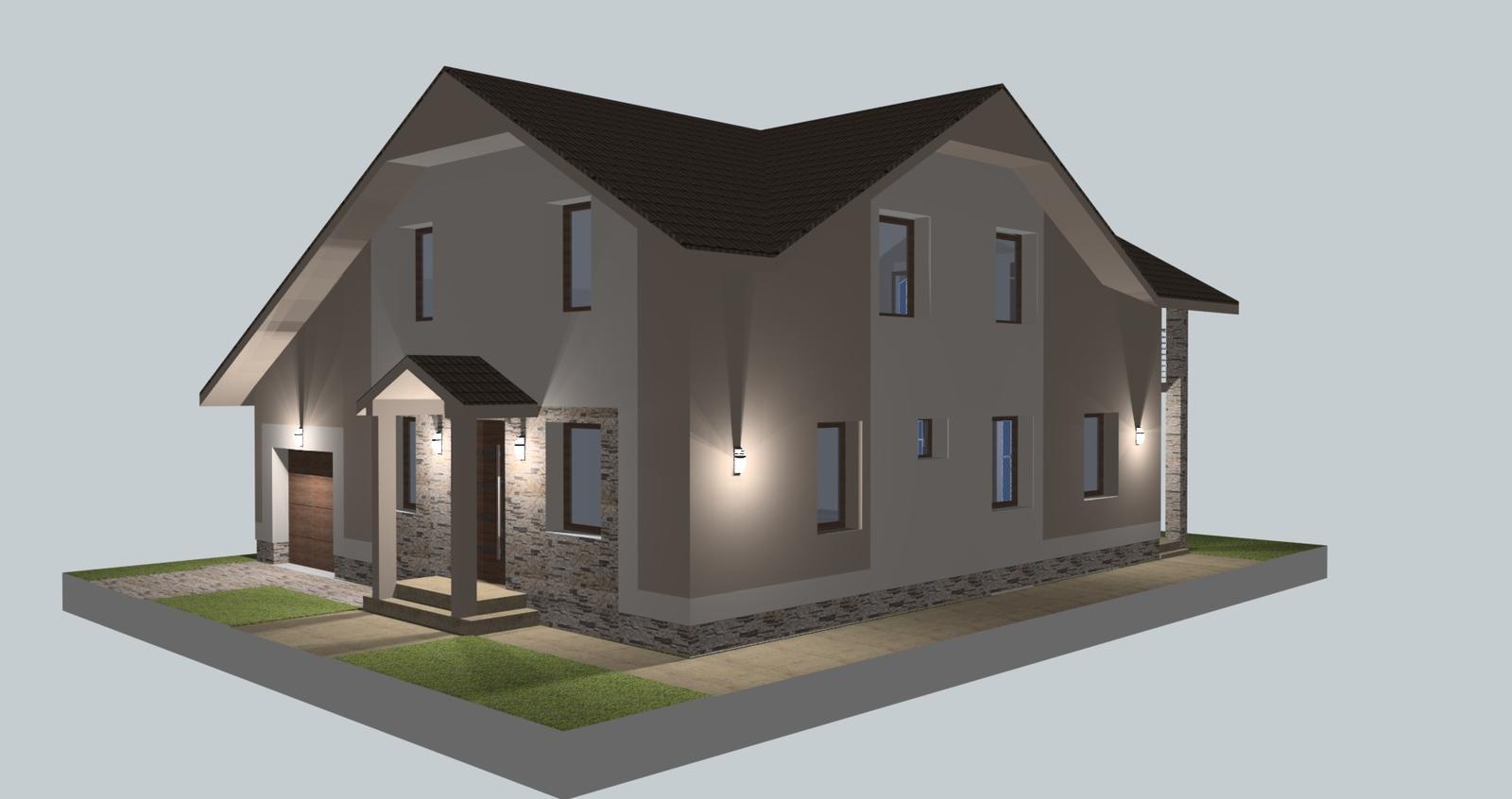 Prebiehajuce projekty - Návrh fasády so svetelnou štúdiou